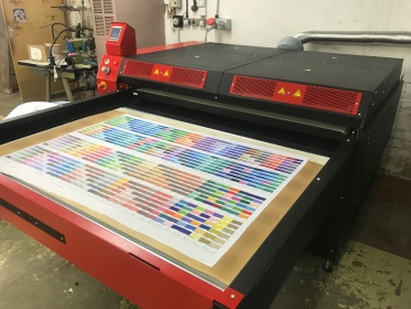 colour chart printed