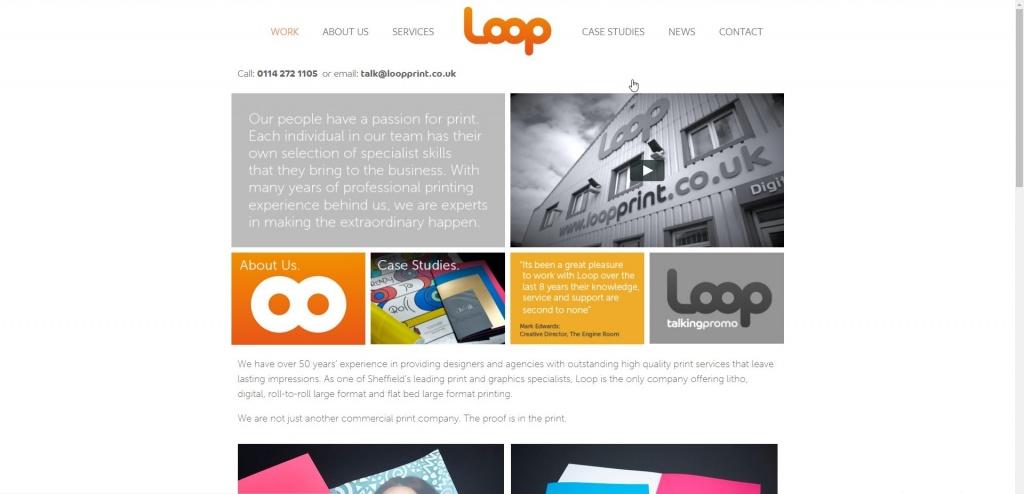 Loop Print homepage